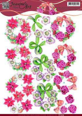 CD10979 - 3D knipvel - Jeanine's Art - Wreaths