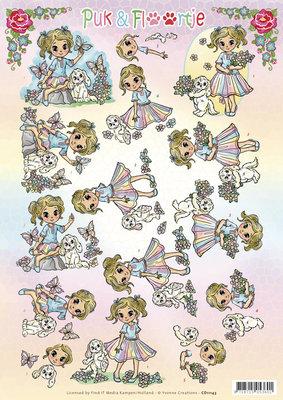 CD11143 - 3D knipvel - Yvonne Creations - Puk en Floortje - Summer
