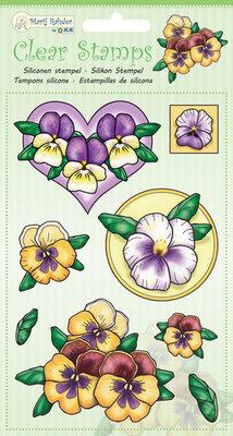 9.0047 Marij Rahder - Clear stamps violets