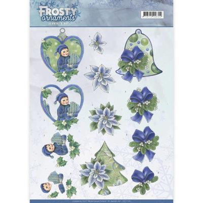 CD11129 - 3D knipvel - Jeanine's Art - Frosty Ornaments - Green Ornaments
