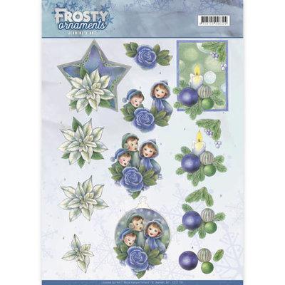 CD11130 - 3D knipvel - Jeanine's Art - Frosty Ornaments - Blue Ornaments