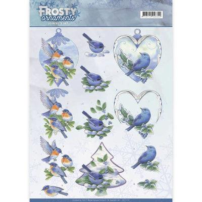 CD11131 - 3D knipvel - Jeanine's Art - Frosty Ornaments - Blue Birds