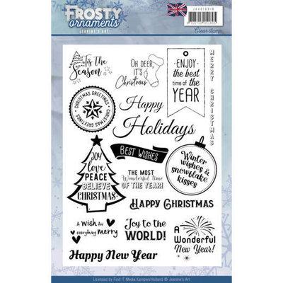 JACS10019 - Textstamp - Jeanine's Art - Frosty Ornaments - ENG