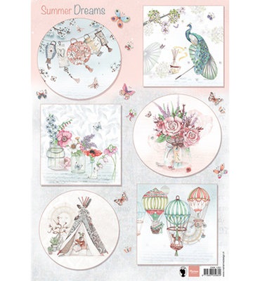 EWK1261 - Knipvel - Marianne Design - Els - Summer  Dreams