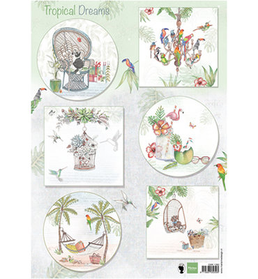 EWK1260 - Knipvel - Marianne Design - Els - Tropical Dreams