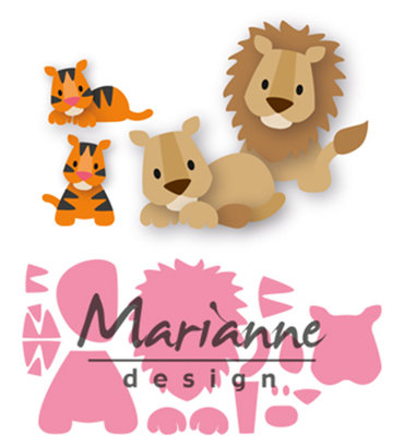 COL1455 - Marianne Design - Collectables - Eline's lion tiger - 100x75mm