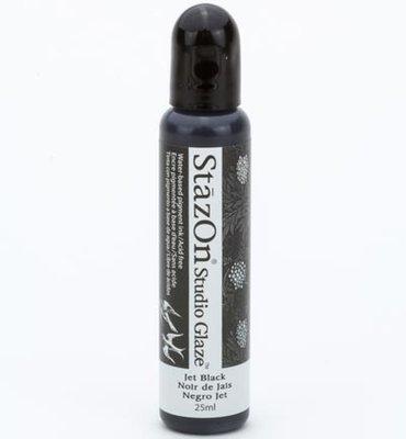 SZ-STG-31 - Stazon Studio Glaze - Jet Black - 25ml