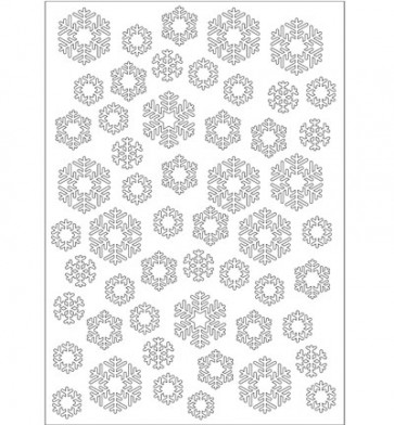 6002/0619 Joy Crafts - Embossing Stencil - Sneeuwvlokken - A5