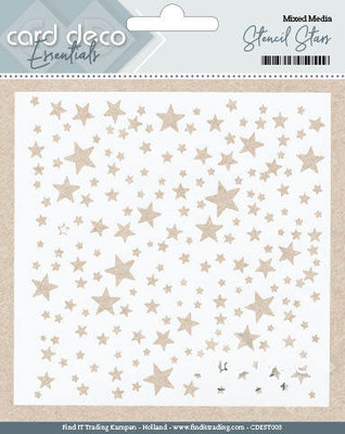 CDEST003 - Card Deco Essentials - Stencil Stars - 13x13cm