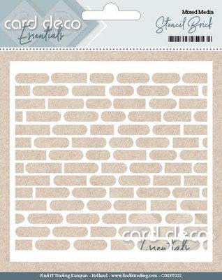 CDEST002 - Card Deco Essentials - Stencil Brick - 13x13