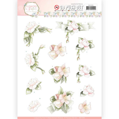 SB10285 - 3D Pushout - Precious Marieke - Flowers in Pastels - Believe in Pink
