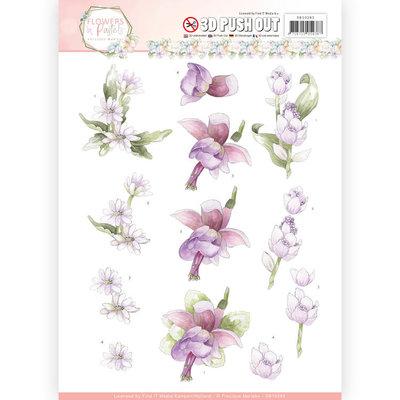 SB10283 - 3D Pushout - Precious Marieke - Flowers in Pastels - Lilac Mist