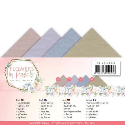 PM-A5-10019 Linnenpakket - A5 - Precious Marieke - Flowers in Pastels
