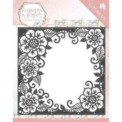 PM10134 - Dies - Precious Marieke - Flowers in Pastels - Floral Frame