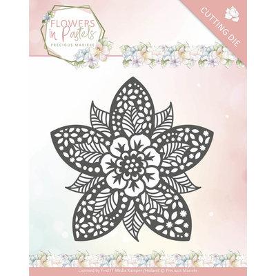 PM10135 - Dies - Precious Marieke - Flowers in Pastels - Reverse Flower