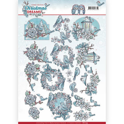 CD11134 - 3D Knipvel - Yvonne Creations - Christmas Dreams - Christmas Birds