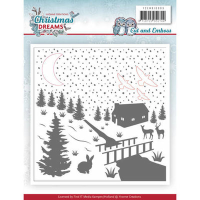 YCEMB10009 - Cut & Embossing Folder - Yvonne Creations - Christmas Dreams