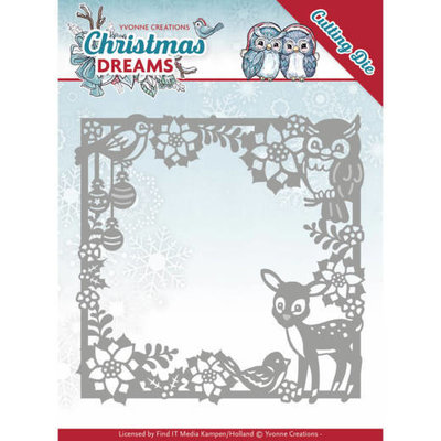 YCD10140 - Dies - Yvonne Creations - Christmas Dreams - Christmas Animal Frame