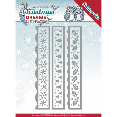 YCD10141 - Dies - Yvonne Creations - Christmas Dreams - Christmas Borders - 13,5cm