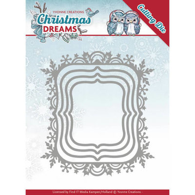 YCD10142 - Dies - Yvonne Creations - Christmas Dreams - Christmas Borders - 9,4x10,3cm
