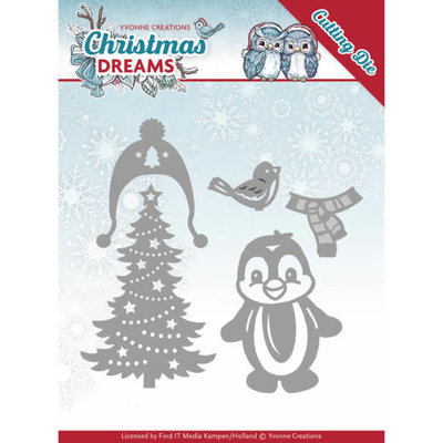YCD10144 - Dies - Yvonne Creations - Christmas Dreams - Christmas Penguin
