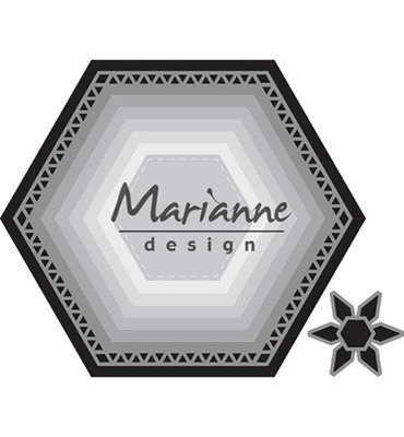 CR1444 - Marianne Design - Craftables - Basic set Hexagon - 106x93mm