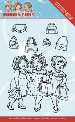 YCCS10044 - Clear Stamps - Yvonne Creations - Bubbly Girls - Gone Shopping