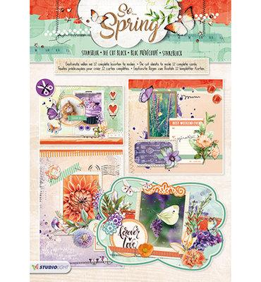 STANSBLOKSS63 - Studiolight - Stansblok - So Spring nr.63 - 12 sheets - A4 - 170grs