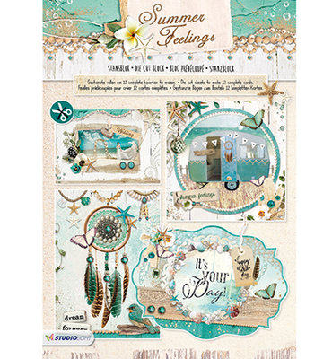 STANSBLOKSF66 - Studiolight - Stansblok - Summer Feelings nr.66 - 12 sheets - A4 - 120grs