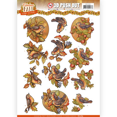 SB10289 - 3D Push Out - Yvonne Creations - Fabulous Fall - Fall Birds