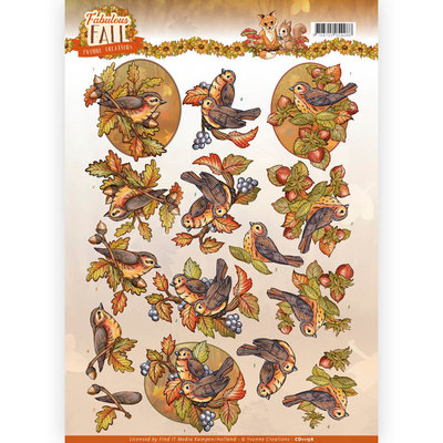 CD11156 - 3D Knipvel - Yvonne Creations - Fabulous Fall - Fall Birds