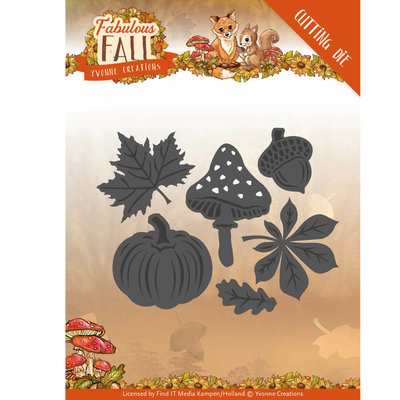 YCD10149 - Dies - Yvonne Creations - Fabulous Fall - Autumn Leaves