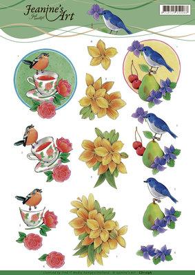 CD11096 - 3D Knipvel - Jeanine's Art - Birds