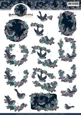 CD11102 - 3D Knipvel - Yvonne Creations - Birds