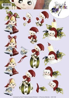 CD11185 - 3D Knipvel - Precious Marieke - Christmas dolls