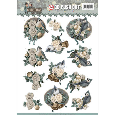 SB10294 - 3D Pushout - Amy Design - Christmas Wishes - Birds and Bells