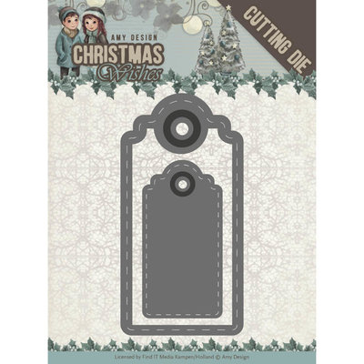 ADD10153 - Dies - Amy Design - Christmas Wishes - Wishing Labels