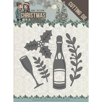 ADD10152 - Dies - Amy Design - Christmas Wishes - Champagne - 5.5x5.5cm