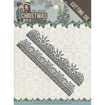 ADD10150 - Dies - Amy Design - Christmas Wishes - Snowflake Borders 4,7x7,4cm