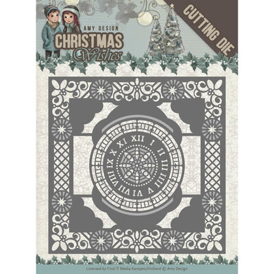 ADD10148 - Dies - Amy Design - Christmas Wishes - Twelve O'clock frame