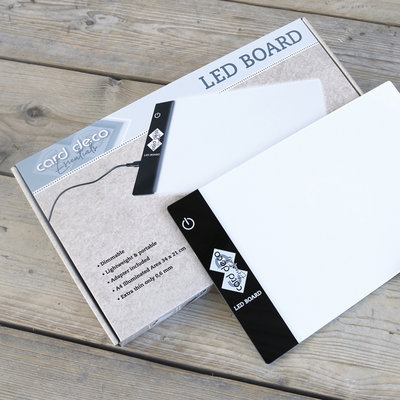 Card Deco Essentials - Led Board -34x21cm