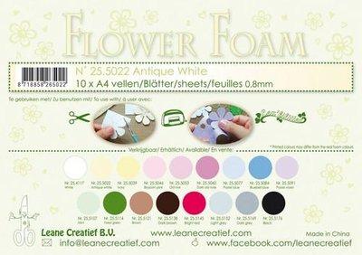 LeCrea - 10 Flower Foam sheets A4 0,8mm antiek wit 25.5022