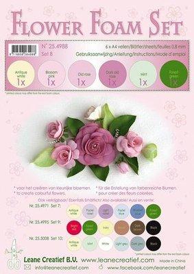 LeCrea - Flower Foam Set 8, 6 sh A4 0.8mm oude roze 25.4988