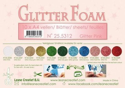 LeCrea - Glitter foam 10 vel A4 - roze 25.5312