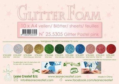 LeCrea - Glitter foam 10 vel A4 - pastelroze 25.5305
