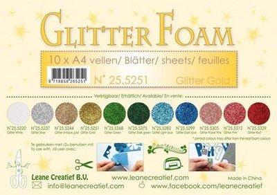 LeCrea - Glitter foam 10 vel A4 - goud 25.5251