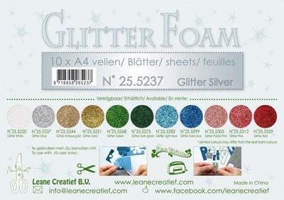 LeCrea - Glitter foam 10 vel A4 - zilver 25.5237