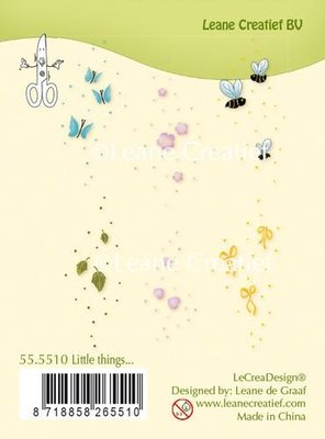 LeCrea - Clear stamp Little things 55.5510