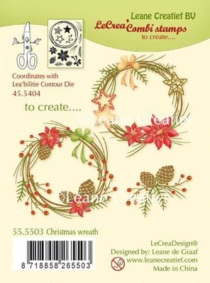 LeCrea - combi Clear stamp Christmas wreath 55.5503