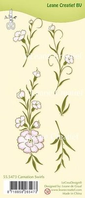 LeCrea - Clear stamp Carnation swirls 55.5473